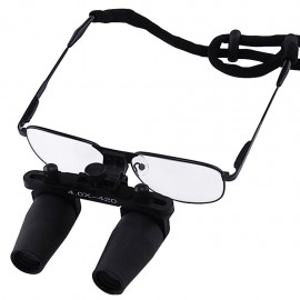 Prismatic type binocular Loupes with 4x optical zoom with nickel alloy frame