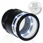 Magnifier Scale Loupe 10x Magnification 8 LED Light 20mm