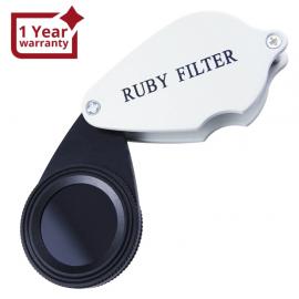 Foldable Ruby Filter Gem, identification tool for Emerald & Gemstones