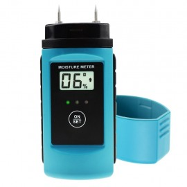 Digital 2-Pin Moisture Meter for Wood and Hard Building Materials with Measuring Range 6 ~ 60%, Portable Design