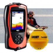 Lucky Wireless Fish Finder with Fish Attractive Light Lamp & Color LCD