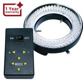 Microscope and camera ring light with 144 LED bulbs