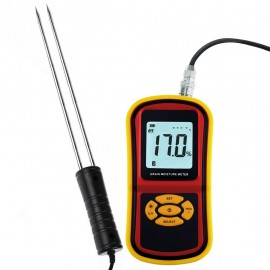 Portable Digital Grain Moisture Meter, Compact High Quality Rice Corn Wheat Tester Analyzer- Range 5~30%