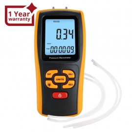 Digital Manometer Digital Air Pressure Meter Differential Air Pressure Gauge Dual Port HVAC Gas Pressure Tester Handheld Portable Tool