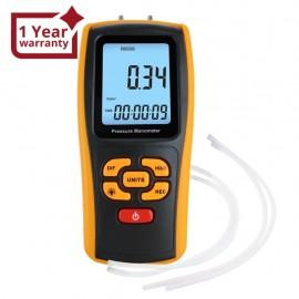 Digital Manometer Digital Air Pressure Meter Differential Air Pressure Gauge Dual Port HVAC Gas Pressure Tester Handheld Portable Tool