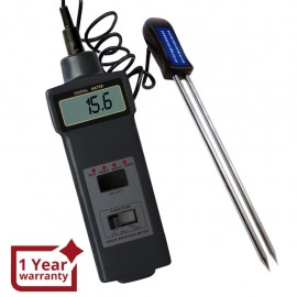 Moisture meter / thermometer for 4 types of grain with 8 ~ 20% range