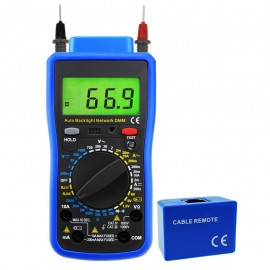 Digital Multimeter Tester Multi Meter, Telephone Line RJ11, Cable RJ45, AC DC Voltage, AC DC Current, Resistance, Diode Continuity Test, Battery Meter Tester