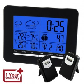In/Out Temperature Wireless Weather Station DCF Radio Controlled Clock 2