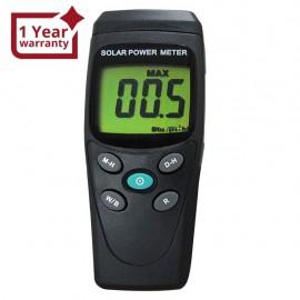 A solar power meter measuring m2 or BTU / (ft2 * h)