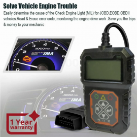 Mini Auto Diagnostic Trouble Codes Tool for OBD2 EOBD Vehicles Multilingual CAN OBDII Scanner