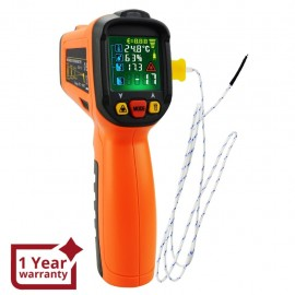 Infrared IR Laser Thermometer -50~800°C, K-Type Thermocouple