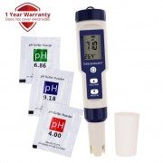 Pentype Multi-Paramater 5-in-1 Water Quality Tester (pH / TDS / EC / Temp / Salinity)