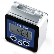 Digital 360 ° Inclinometer with Magnets and Spirit Level with Large LCD Display