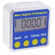 Digital Bevel Box Inclinometer Protractor with Magnets with Always Upright Display and Large LCD Display