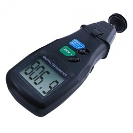 Digital laser 2-in-1 photo tachometer - contact and non-contact RPM