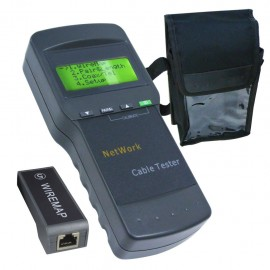 Multipurpose cable tester for network, LAN and telephone cables