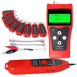 Multipurpose Network / LAN Cable Tester with 8 Far-End Test Jacks