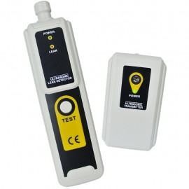 Ultrasonic leak detector with transmitter - detects air, water and dust with LED indicator and earphone
